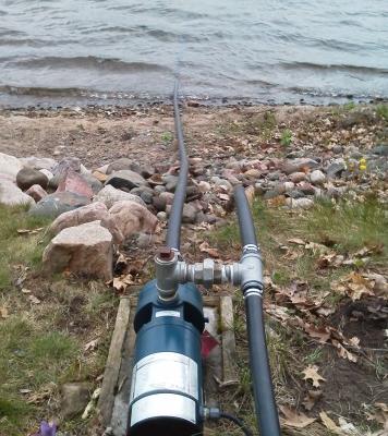 Lake Water Irrigation System