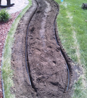 Sub-surface Irrigation Installation