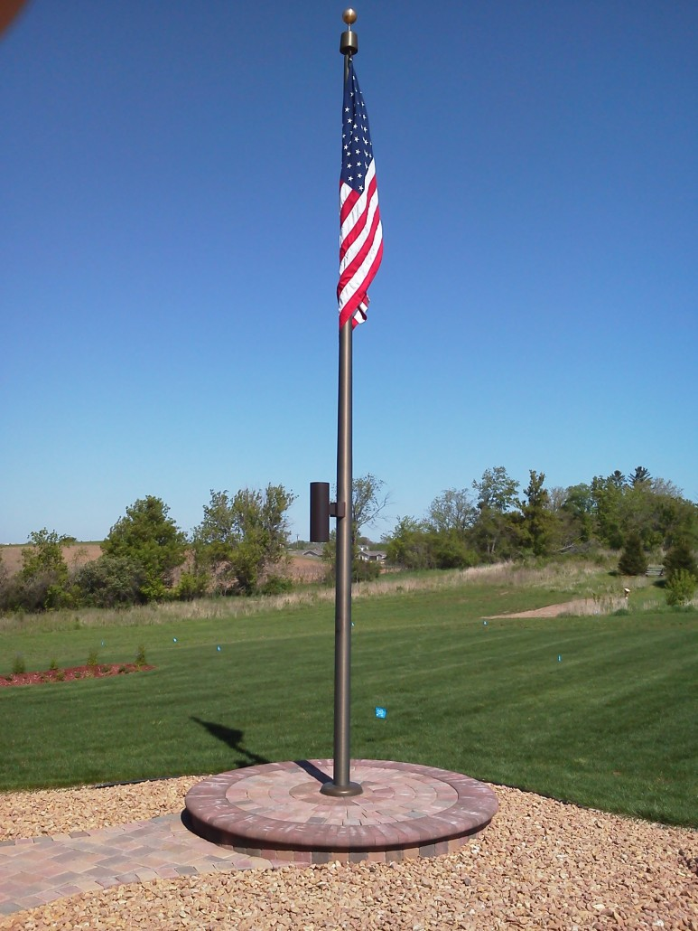 Custom Flag Pole Lake Kountry